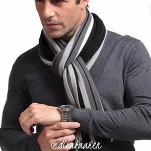 Other - 🎊HP🎊 Men's Classic Cashmere Fringe Scarf